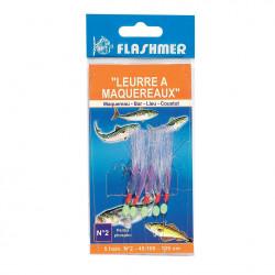 Mackerel lure with beads 5 Flashmer hooks