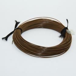 Plunging dark brown idol silk 27m Jmc