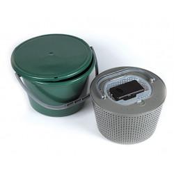 Round livewell bucket Green 18l + Arca aerator