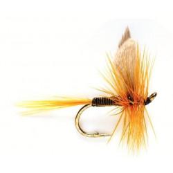 Mouche seche - winged Dry flie Olive dun 0524 ham 14