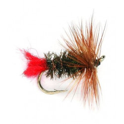 Dry fly - hackled Dries Red tag 2106 ham 16