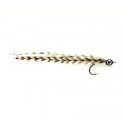 Vliegvissen Taron-cuda-bass baitfish White ham co103 6