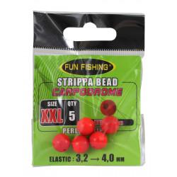 Perle strippa rouge 10mm x5 Fun fishing