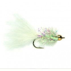 Mouche stream-gold.nugg.leeche&stream cactus fly White 16