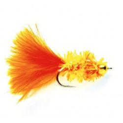 Vliegvissen gold.nugg.leeche Stroom Cactus Fly Orange 1
