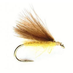 Vliegvissen fly - cdc Dries Yellow 0656 ham 16