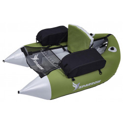 Float Tube trium green / gray Sparrow