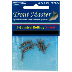 Trout Master 3 Jointed swivel size 22 by 10 Spro