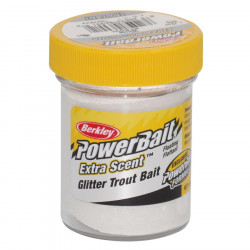 PÂte À truite glitter blanc Berkley