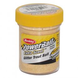 PÂte À truite glitter jaune Berkley