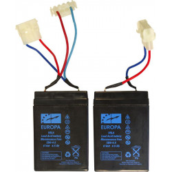 Anatec jeu de 2 batteries au plomb 6v/5a