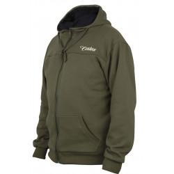 Sweat à capuche Century vert Premium zip