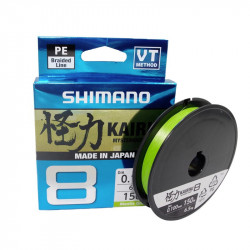 Shimano Kairiki 8 Gevlochten lijn 150m Mantis groen
