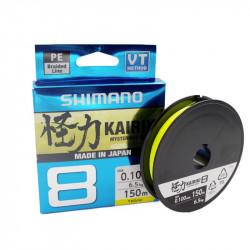 Shimano Kairiki 8 Gevlochten lijn 150m geel