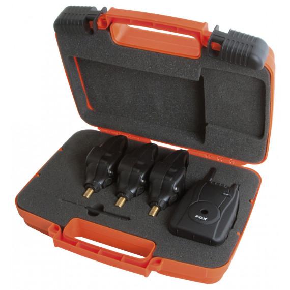 Coffret 3 dÉtecteurs (rouge-orange-vert) + centrale micron mxr+ Fox 4