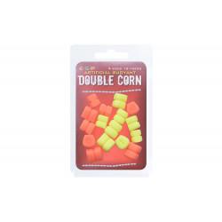 Appâts artificiels Double Corn orange/jaune par 16