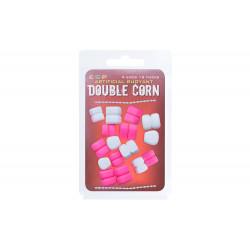 Appâts artificiels Double Corn blanc/rose par 16