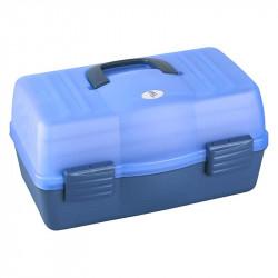 Coffret transparent bleu 3 étages Plasticapanaro 460x280x253mm
