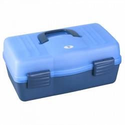 Coffret transparent bleu / bleu 3 étages Plasticapanaro