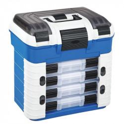 Boite de pêche Superbox 502 bleu / gris 4 boites + 1 spinner Bait Plasticapanaro
