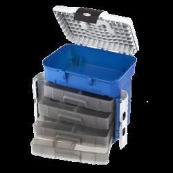 Boîte de pêche Plasticapanaro 503 bleu / gris + 4 casiers