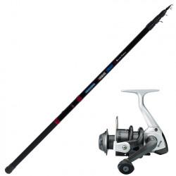 Garbolino Zombie RX 3.80m rod + Black Trout reel set