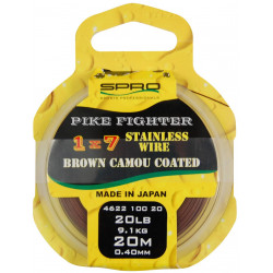 Cable Acier Pike Fighter 1x7 Brown Coated 20m