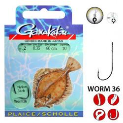 Bas De Ligne Flatfish Gamakatsu Worm 36