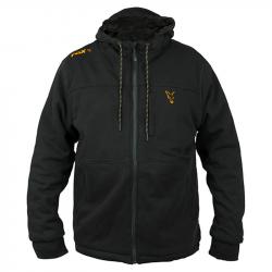 Veste Hoodie Sherpa Black Orange Fox