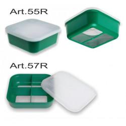 Boite carrée 4 compartiments avec tamis 57R Stonfo