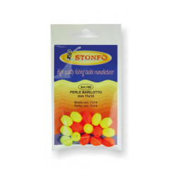 Orange / yellow oval Stonfo beads