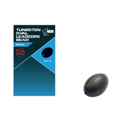 Tungsten Oval Bead Leadcore 8mm Nash