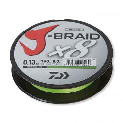 Tresse Daiwa J-Braid X8 Chartreuse 150m