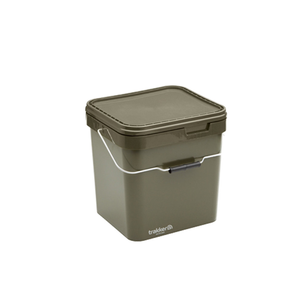 Trakker Bucket Olive Square container 17litres Trakker 1