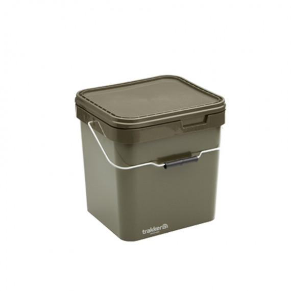 Trakker Bucket Olive Square container 17litres Trakker