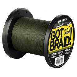 Gevlochten lijn Got Braid Groen 0,18 mm 1500m