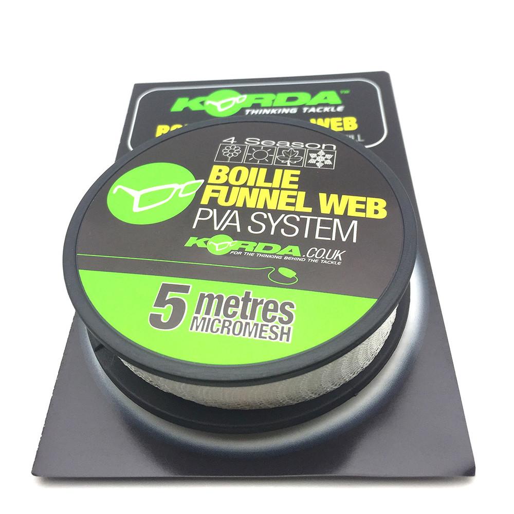 Navulling Pva boilie Funnel web Micromesh Korda 1