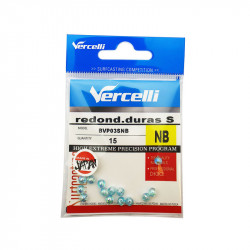 15 Vercelli S round hard beads