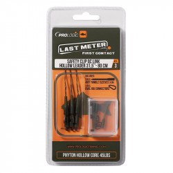 Safetly Clip Qc Link Hollow Leader 80cm 45lbs 3pcs Prologic