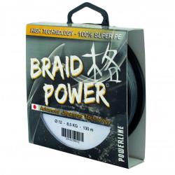 Braid Power Gray 130m Powerline