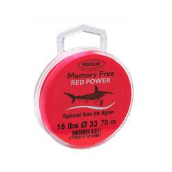 Nylon Memoryfree Red 70m Powerline