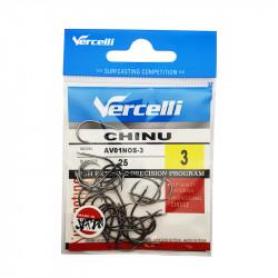 Hameçon Vercelli Chinu nickel noir par 25