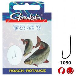 Hameçons montés BKD-1050n Roach 70cm par 10 Gamakatsu