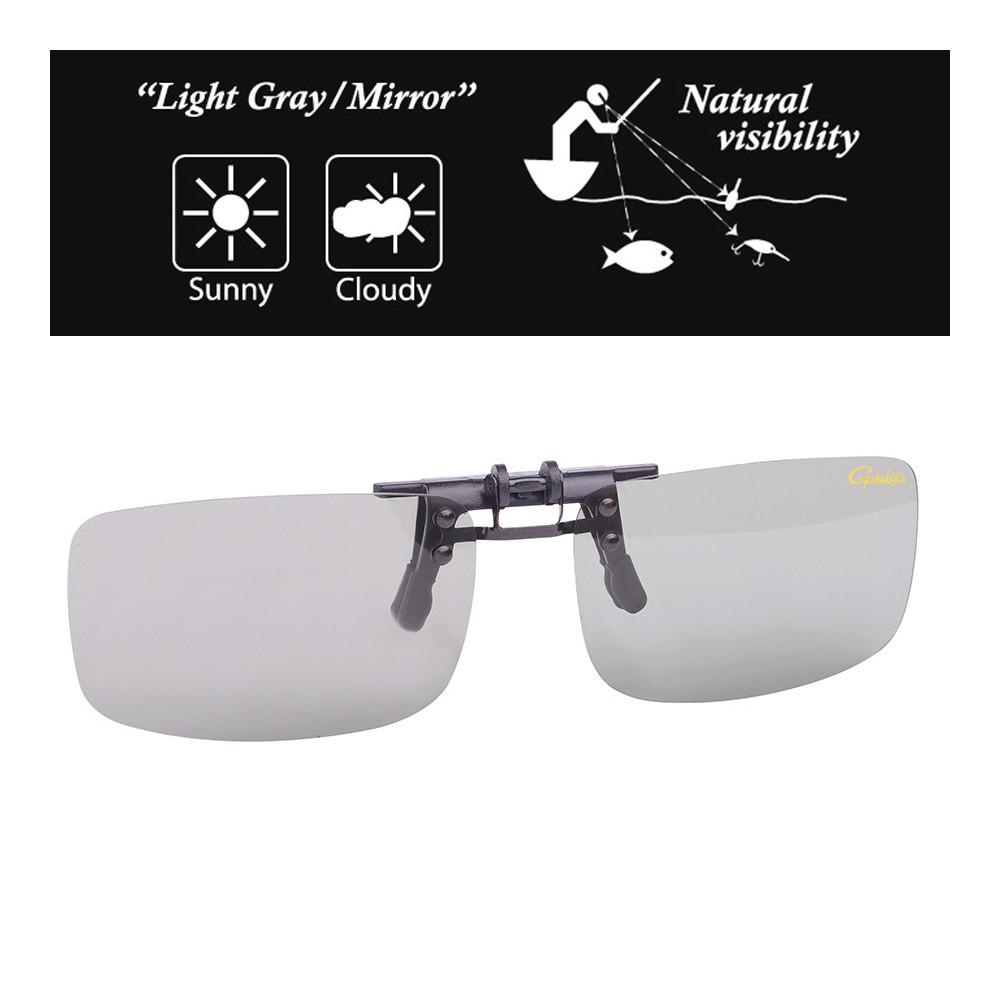 Sur lunettes Gamakatsu Clip Light gray / mirror  3