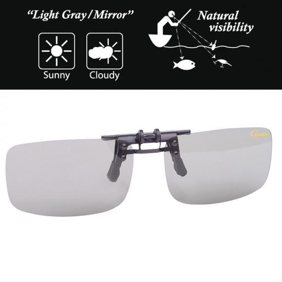 Sur lunettes Gamakatsu Clip Light gray / mirror