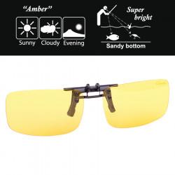 On Gamakatsu Clip Amber glasses