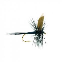 Mouche sèche - Winged Dry Flie Black Gnat 1723 N.14