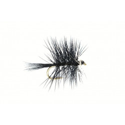 Dry Fly Hackled Dries Bi-Visible Black