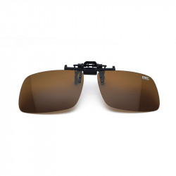 Brown Polarized Clip-On Glasses