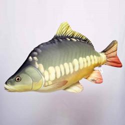 Oreiller Poisson La Carpe Miroir 61cm Gaby Fish
